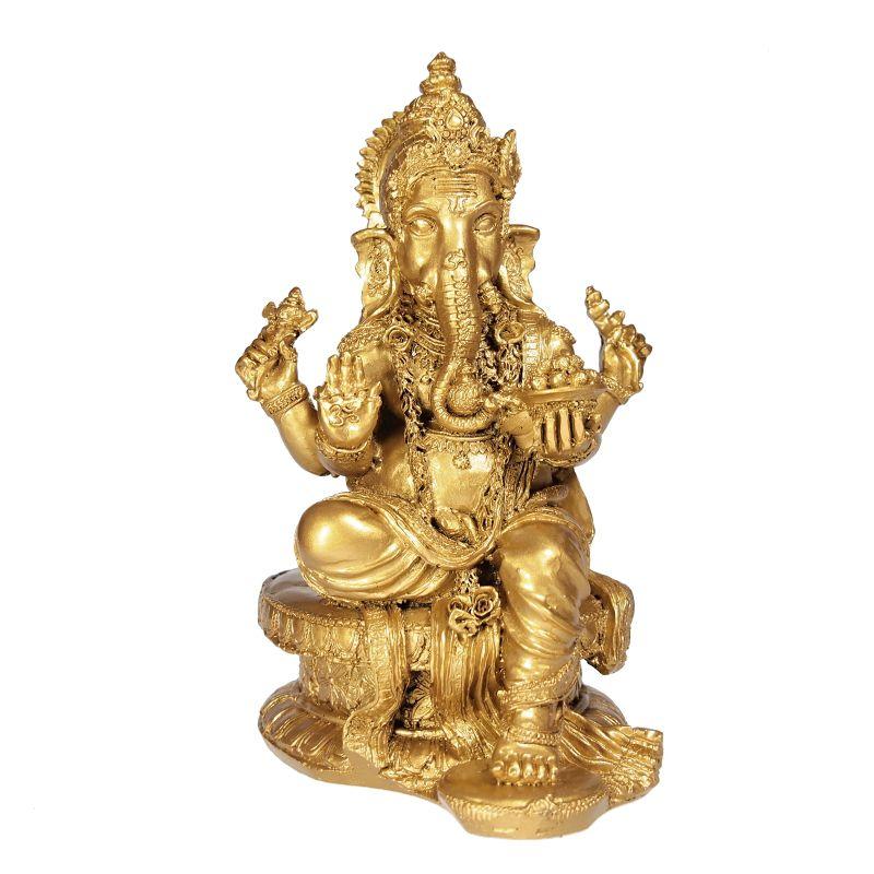 Soška Ganéša (Ganesh) resin 20 cm zlatý Čína
