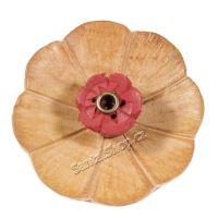 Stojánek na vonné tyčinky dřevěný - Lotos 7 cm květ Nepál